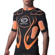 Optimum Junior Inferno Rugby Protective Top Shoulder Pads, Black/Orange, Small Boys (X