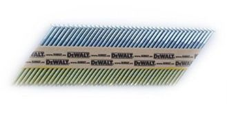 DeWalt, 34 Degree Nail for Cordless Nail Gun, Wired 3.1 x 80 mm Ring, 2,200 Pieces, DN