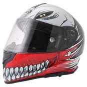 RRP £69.00 VCAN V127 Full Face Double Sun Visor Motorbike Motorcycle Helmet Hollow Red M