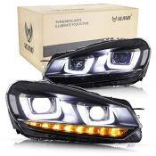 RRP £360.00 VLAND LED DRL Headlight for Golf 6 MK6 TSI TDI GTD 2008-2013 Front Lamp Assembly (Driv