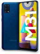 RRP £245.00 Samsung Galaxy M31 Mobile Phone; Sim Free Smartphone - Blue [Amazon Exclusive] (UK Ver