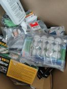 COMBINED RRP £359.00 LOT TO CONTAIN 36 ASSORTED Automotive: LEADTOPS, AA, 60mm, BQLZR, AA, CTEK