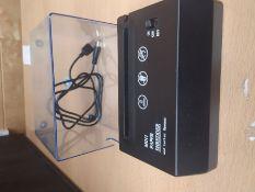 Aibecy Portable Handheld Paper Shredder Cutter A6 Folded A4 Strip Cut USB/Batteries Op