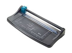 [CRACKED] Avery A4 TR002 Photo and Paper Trimmer - paper cutter, Black and Teal