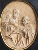 Italian school, Angelo Gabriello Pio (1690-1770): Meeting of St Anthony and St Paul, terracotta, Bol