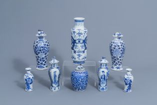 A varied collection of Chinese blue and white porcelain, 19th C.