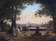 Jodocus Sebastiaen Van den Abeele (1797-1855) and/or circle: View on Rome, 1845