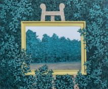 Rene Magritte (1898-1967, after): 'La Cascade', lithograph in colours, ed. 230/300, dated 2003