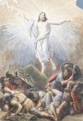 Luigi Ademollo (1764-1849): The resurrection of Christ, watercolour on paper, dated 1837