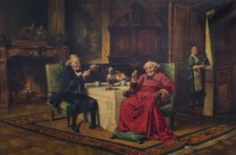 L. Zubero (19th/20th C.): After the confession, oil on canvas