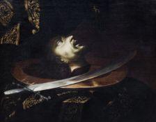 Spanish school, attr. to Sebasti‡n de Llanos y Valdes (ca. 1605-1677): Head of Saint Paul, 17th C.