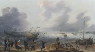 Adam Willaerts (1577-1664, signed with monogram A.W.): Spring tide, oil on panel
