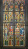 French school: 'Vitrail dans la cathedrale de Cologne - Adoration des mages', 19th C.