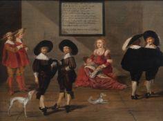 Dutch school: The riddle of Nijmegen, oil on panel, 17th C.