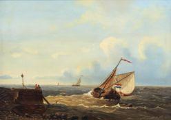 Abraham Hulk I (1813-1897, in the manner of): Marine, oil on panel