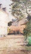 A. Gustave de Hennin (19th/20th C.): Village view, oil on canvas