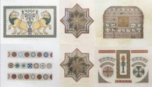 Italian school: 'Cappella Palatina, Palermo', a series of six chromolithographs, 19th C.