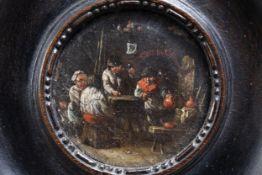 Flemish school, follower of David Teniers II (1610-1690): Peasant, poss. 18th C.