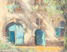 Jacques van den Seylbergh (1884-1960): 'Begijnhof te Aarschot', pastel
