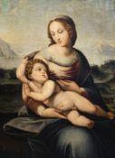 Italian school, after Raffaello Sanzio (Raphael, 1483-1520): Madonna and Child, oil on canvas, 18th/