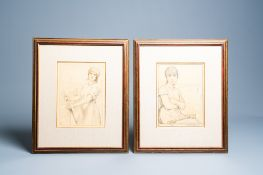 Armand Rassenfosse (1862-1934): Workers, two lithographs in colours, dated 1917