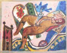 Theo Tobiasse: 'Le second cantique des cantiques VI', lithograph in colours, ed. 131/150, (2009)