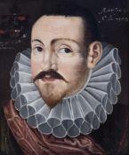 Flemish school: A portrait of Hans Behaghel, oil on panel, 16th/17th C.