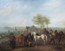 Dutch school, in the manner of Philips Wouwerman (1619-1668): The spoils of war, oil on canvas, 17th