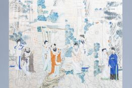 Chinese school, ink and colours on silk, 19th/20th C.: Four works depicting Immortals