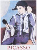 Pablo Picasso (1881-1973): 'Arlequin au miroir', print, (1971)