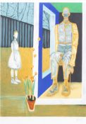 Hans Vandekerckhove (1957): 'Ik wil een tuinwereld scheppen', lithograph in colours, ed. 491/500, (1