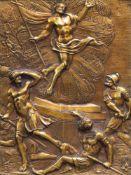 An Italian gilt brass 'Resurrection of Christ' plaque, 17th C.