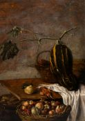 Sybrand Van Beest (1610-1674): Still life with fruits, oil on panel