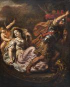 Dutch school: Mars, Venus and Amor, oil on canvas, 17th C.