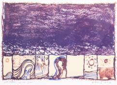 Pierre Alechinsky (1927): 'Grains derriere le miroir', lithograph in colours, dated (19)81
