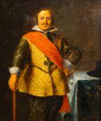 Flemish school: Portrait of a gentleman, oil on panel, 17th C.