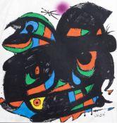 Joan Mir— (1893-1983): Untitled, serigraph