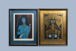 Felix Labisse (1905-1982): 'Judith', ed. E.A., and Jef Van Tuerenhout (1926-2006): Naked lady, ed. 5