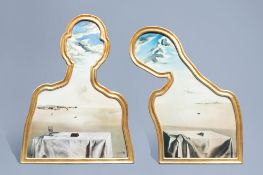 Salvador Dali (1904-1989, after): Couple with their heads full of clouds, granolithography, ed. 151/