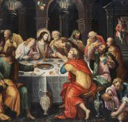 Flemish school: The Last Supper, oil on panel, 17th C.