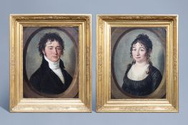 Franois Jacquin (1756-1826): Portraits of L.B. Nillis and his wife Jeanne Marie Carolina Van Meerbe