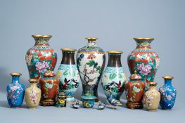 An extensive and varied collection of Chinese cloisonne wares, 20th C.