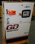 GARDNER DENVER APEX5-15A ROTARY SCREW AIR COMPRESSOR WITH 15 HP, 123 PSI, S/N: D125650 (CI) [RIGGING