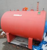 ABOVE GROUND OUTDOOR FUEL STORAGE TANK WITH 2270L CAPACITY, S/N: 209167 (CI) [RIGGING FEE FOR LOT #