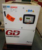 GARDNER DENVER APEX5-15A ROTARY SCREW AIR COMPRESSOR WITH 15 HP, 123 PSI, S/N: D119780 (CI) [RIGGING