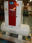 GARDNER DENVER (2018) L22 TANK- MOUNTED ROTARY SCREW AIR COMPRESSOR WITH 30 HP, 130 PSI, S/N:
