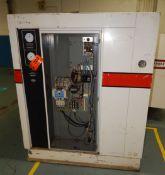 GARDNER DENVER ECMQLC ELECTRA- SAVER II ROTARY SCREW AIR COMPRESSOR WITH 75 HP, 110 PSI, S/N: M39571