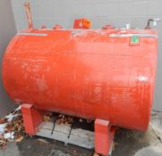 ABOVE GROUND OUTDOOR FUEL STORAGE TANK WITH 2270L CAPACITY, S/N: 209168 (CI) [RIGGING FEE FOR LOT #