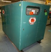 GARDNER DENVER ESMBE ROTARY SCREW AIR COMPRESSOR WITH 100 HP, 125 PSI, S/N: W19603 (CI) [RIGGING FEE