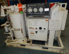 GARDNER DENVER EBHSJD ELECTRA- SAVER II LIQUID-COOLED ROTARY SCREW AIR COMPRESSOR WITH 50 HP, 100